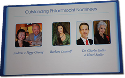 APF's Outstanding Philanthropist Nominees including Barbara Lazaroff