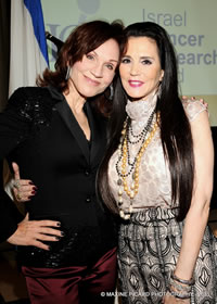"Marilu Henner and Barbara Lazaroff at Israel Cancer Research Fund (ISRF) ""Women of Action"" 2011 Luncheon"