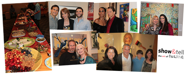 Barbara Lazaroff hosted this special closing reception for this annual Zimmer Children's Museum fund-raising art exhibit, 2011