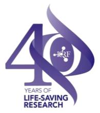 ICRF 40 years logo