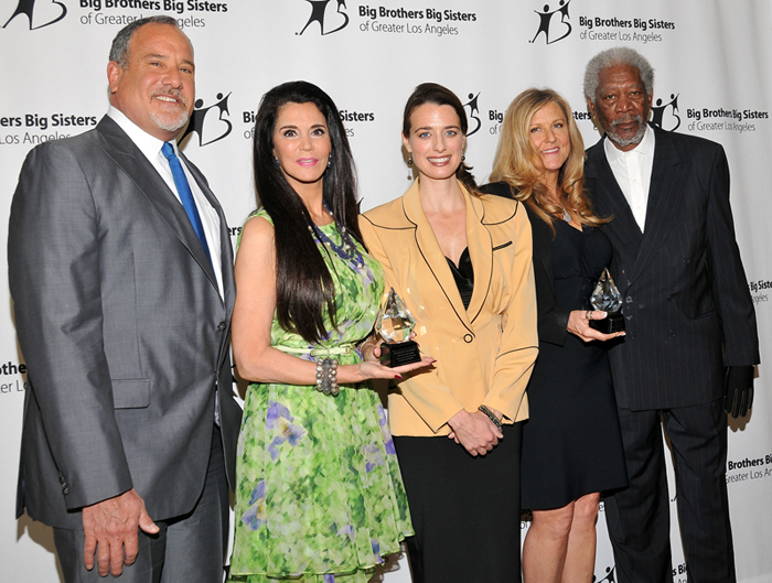 Barbara Lazaroff and others on the red carpet at the Big Brothers Big Sisters event 2013