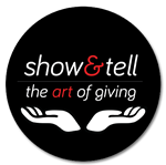show & tell, the art of giving - logo