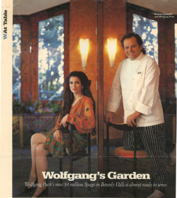 W Magazine article Wolfgang's Garden, featuring Wolfgang Puck and Barbara Lazaroff