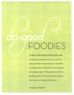 VIVmag article, do-good Foodies about Barbara Lazaroff 2007