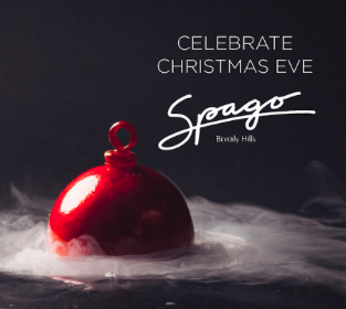 Spago Christmas Eve dinner graphic