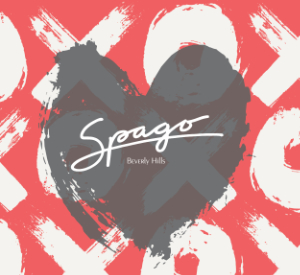 Spago Beverly Hills Valentine's Day dinner logo 2020