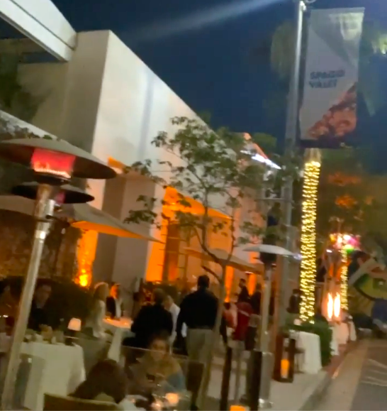 Sidewalk dining at Spago Beverly Hills