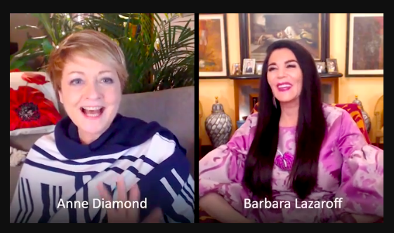 VikingTV hostess Anne Diamond interviewed Barbara Lazaroff Thanksgiving Day, 2020