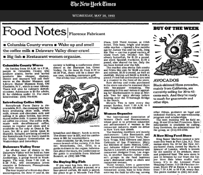 1993 New York Times Food Notes, Women Chefs founding including Barbara Lazaroff