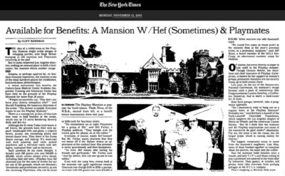 2001-11-12 NY Times Playboy Mansion story, Barbara Lazaroff quoted