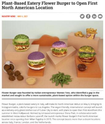 QSR magazine's article on Flower Burger, Barbara Lazaroff working on Los Angeles location